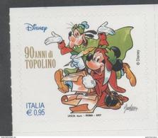 ITALY, 2017, MNH,  DISNEY, MICKEY MOUSE, 90TH ANNIVERSARY,  GOOFY, 1v - Disney
