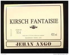 Etiquette De   Kirsch  Fantaisie  -  Jehan Ango - Labels