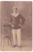 Ancienne Carte Photo Marin JEAN FRANCOIS GUILCHER Ile De Sein ? - Personnes Identifiées