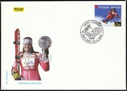 Croatia Zagreb 2001 / Janica Kostelic Winner Of The Alpine Skiing World Cup 2000/2001 / FDC - Ski