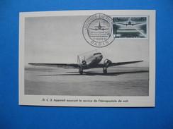 Carte Maximum N° 1196   Journée Du Timbre Et 20 ème Anniversaire Du Service Aéropostal De Nuit    1959 - Cartes-Maximum