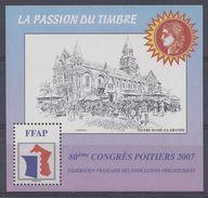 FR - 80ème Congrès Poitiers 2007 - Bloc N° 1 - Neuf - XX - TB - - FFAP