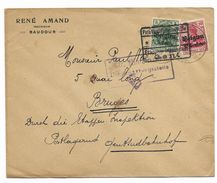 MONS-BERGEN(Belgien) 25.11.1916+Ctrl Militarische..MONS + B  Via Etappen..GENT - WW I