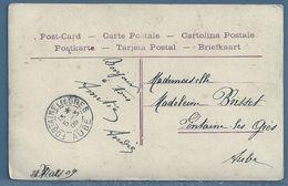 CPA - CACHET : FONTAINE LES GRÈS (AUBE) - Poststempel (Briefe)