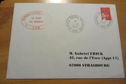 Bureau Postal Militaire 240 De KABOUL (Afghanistan - 2002) - Cachet Du Chef De Bureau - Military Postmarks From 1900 (out Of Wars Periods)