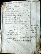 28 CHARTRES  FACTURE FUNERAIRE LUMINAIRE POUR DEFUNT CIERGES DEBUT 19° CHARTRES JUILLET 1813 - Petits Métiers