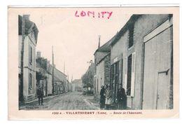 89 Villethierry Route De Chaumont Cpa Animée Edit Gudin - Autres Communes