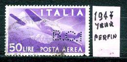 ITALIA - REPUBBLICA - Year 1945 - AEREA - PERFIN - Usato - Used - Utilisè - Gebraucht. - Usati