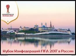 RUSSIA 2017 POSTCARD Mint Set 16 FOOTBALL SOCCER CONFEDERATIONS CUP FIFA SPORT Petersburg Moscow Kazan Sochi STADIUM - Football