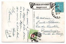CV De France (Gerardmer) Taxée à L'arrivée à RUMELANGE (1938) - Segnatasse