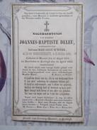 BIDPRENTJE JOANNES BAPTISTE DELEU MENEN KORTRIJK GESTORVEN 1856 - Religion & Esotérisme