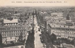 PARIS  Panorama Pris De L Arc De Triomphe De L étoile  Carte En Très Bon état - Tour Eiffel
