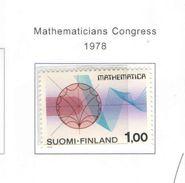 Finlandia PO 1978 Congresso Matem. Scott.612+See Scans - Nuovi