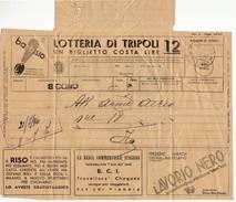 3182 TELEGRAMMA SAN CONO CATANIA - ELAH  LOTTERIA DI TRIPOLI - 1900-44 Vittorio Emanuele III