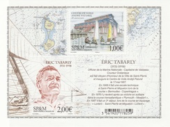 Saint Pierre And Miquelon, Eric Tabarly, French Navigator, 2017, MNH VF  Souvenir Sheet Of 2 - Unused Stamps