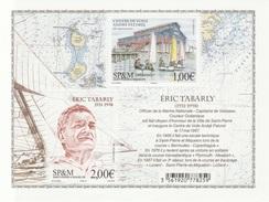 Saint Pierre And Miquelon, Eric Tabarly, French Navigator, 2017, MNH VF  Souvenir Sheet Of 2 - St.Pierre & Miquelon