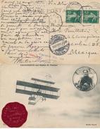 SEMEUSE PAQUEBOT LE HAVRE A NEW-YORK - CP POUR LE MEXIQUE - MEETING AVIATION TROUVILLE 25/8/10 LEGAGNEUX FARMAN - 1877-1920: Semi Modern Period