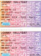 JOHNNY HALLYDAY  Lot 2 Tickets  Concert  2009  Tour 66  Mardi 12/05/2009 St ETIENNE Plein Tarif 79 Euro - Tickets De Concerts