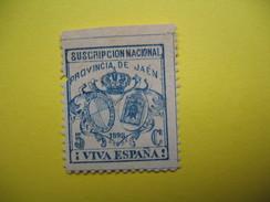 Vignette Suscripcion Nacional Provincial De Jaen  Viva Espana - Erinnophilie