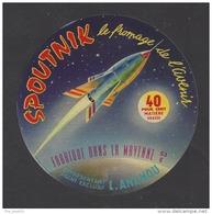 Etiquette De Fromage    -  Spoutnik  -  Vaubernier à Martigné  (53 E) - Cheese