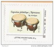 Timbre Autocollant MONTIMBRAMOI MONTIMBR@MOI MTAM Bongo MUSIQUE MUSIC MUSIK MUZIEK INSTRUMENT ID TIMBRE Drum Percussion - France
