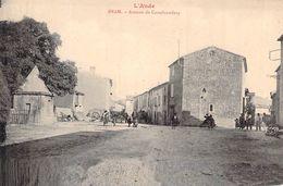 CPA Aude Bram Avenue De Castelnaudary - Axat