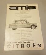 Citroën AMI 6 1961 Depliant Brochure Italiano - Publicités