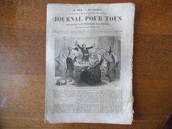 JOURNAL POUR TOUS DU 23 SEPTEMBRE 1863 RIDEAU DU THEATRE DE LA GAITE,LE GENERAL RUSSE MOURAWIEFF,PEAU D'ÂNE,BILLETS DE B - Livres, BD, Revues