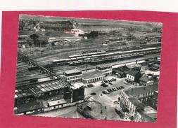 CPSM - BETHUNE (P. De C.)  -275-54 A -  La Gare - Place De La Gare  - Vue Aérienne - Bethune