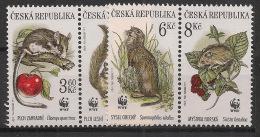 Czech Republic - 1996 - N°Yv. 108 à 111 - Faune / WWF - Neuf Luxe ** / MNH / Postfrisch - Rodents