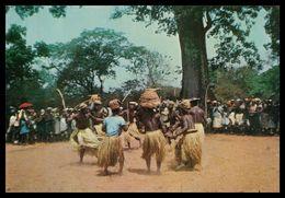 GUINÉ-BISSAU -   COSTUMES - Dança Do Pau Dos Balantas. ( Ed. Centro De Informação E Turismo ) Carte Postale - Guinea-Bissau