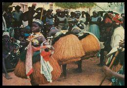 GUINÉ-BISSAU - COSTUMES -  Dança De Defuntos Em Bijagós  ( Ed. Centro De Informação E Turismo ) Carte Postale - Guinea-Bissau