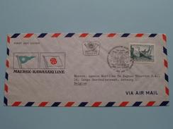 MAERSK * KAWASAKI LINE ( FDC ) GRAZ > ANTWERP A.M. De Keyser Thornton 1973 Ersttag ( Voir Photo ) ! - FDC