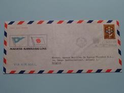 MAERSK * KAWASAKI LINE ( FDC ) NEW YORK > ANTWERP A.M. De Keyser Thornton 1972 ( Voir Photo ) ! - Non Classés