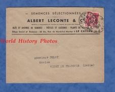 Enveloppe Commerciale Ancienne - LE CATEAU ( Nord ) - Maison Albert LECONTE - Semences Sélectionnées - Blé Avoine - 1948 - Lettres & Documents