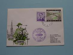 SABENA : Santiago De Chile > Brussels Belgium 1971 ( Voir Photo ) ! - Chili