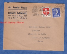 Enveloppe Commerciale Ancienne - FECAMP ( Seine Maritime ) - Au Jardin Fleuri - Maison Henri Dennel - 1959 - France