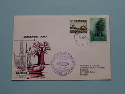 SABENA : DAKAR > Brussels Belgium 1971 ( Voir Photo ) ! - Sénégal (1960-...)
