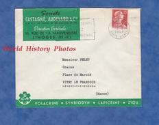 Enveloppe Commerciale Ancienne - LIMOGES ( Haute Vienne ) - Société Castagné Audevard & Cie - Rue De La Mauvendière 1959 - France
