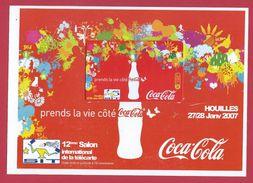SIT 2007 Houilles Coca Cola Rouge Sepatel 750 Exemplaires Neuve Avec Encart Coca-Cola Non Grattée Prépayée Prepaid - Andere Voorafbetaalde Kaarten