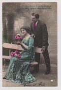 """Couple, Femme Assise Sur Banc - """"De Mon Amour Point De Mystère Je Suis à Vous Et Veux Vous Plaire"""" - (As De Pique 598) - Couples"""