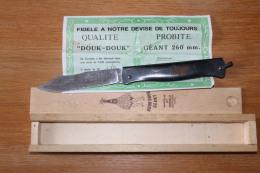 Couteau DOUK DOUK Geant Numeroté Avec Certificat Et Boite - Blankwaffen