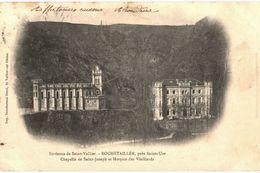 CPA N°16505 - LOT DE 2 CARTES ST VALLIER - ROCHETAILLE PRES ST UZE CHAPELLE DE ST JOSEPH ET HOSPICE DES VIEILLARDS - Andere Gemeenten