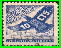 ESPAÑA SELLO CRUZADA CONTRA EL FRIO 10 CTS  6ª REGION MILITAR. - Impuestos De Guerra