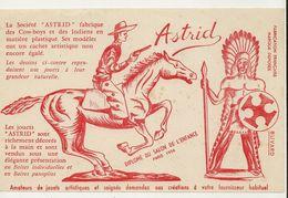 BUVARD  -   ASTRID (cow-boys Et Indiens En Matière Plastique) (13.5X21 )  29 - Carte Assorbenti