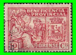 SELLO BENEFICENCIA PROVINCIAL ORENSE 10 CTS. GUERRA CIVIL - Impuestos De Guerra
