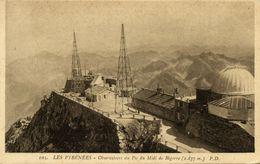 France, BIGORRE, Pyrenees, Observatoire De Physique Du Globe, Observatory (1930s) Postcard - Astronomy
