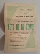1952 - Programme De La Fête De La Terre à Guilberville - Torigni Sur Vire - Condé Sur Vire - Lamberville - Rouxeville... - Programmi