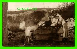 BUCARESTI, ROUMANIE - VEDERI DIN ROMANIA, PORT NATIONAL ROMAN - BIG BEEF WITH A WOMEN - EDITURA SOCEC & CO - - Roumanie