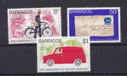 Barbados 1976 MNH**- Postal Services - Barbados (1966-...)